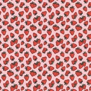 Strawberries on Pink - Mini Scale