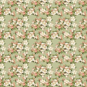 Hudson Floral Green | Small Print | Dollhouse