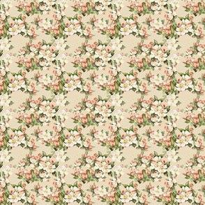 Hudson Floral Beige | Small Print | Dollhouse