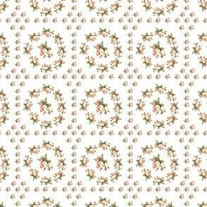 Hudson Floral Insignia White | Small Print | Dollhouse