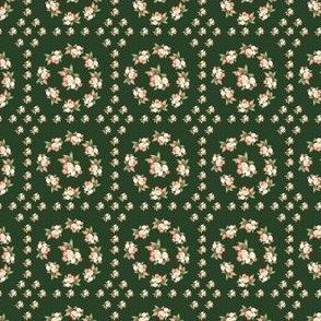 Hudson Floral Insignia Dark Green | Small Print | Dollhouse