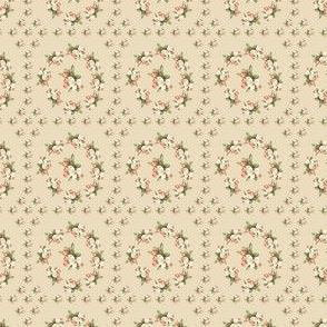 Hudson Floral Insignia Beige | Small Print | Dollhouse