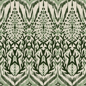 Tribal Abstract (2-Shade Green)