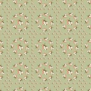 Hudson Floral Insignia Green | Small Print | Dollhouse