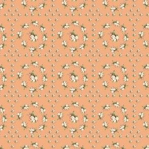 Hudson Floral Insignia Peach | Small Print | Dollhouse