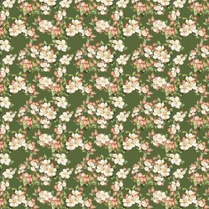Hudson Floral Dark Green | Small Print | Dollhouse