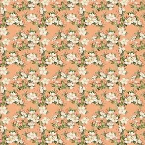 Hudson Floral Peach | Small Print | Dollhouse
