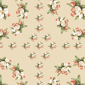 Hudson Floral Insignia in Beige