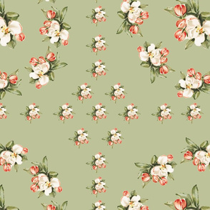 Hudson Floral Insignia in Green