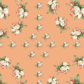 Hudson Floral Insignia in Peach