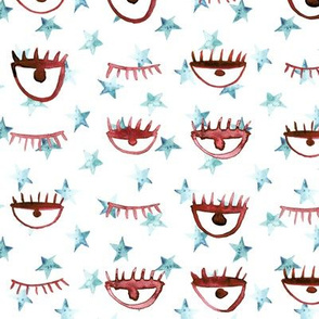 eye star watercolor pattern - trendy stars and eyes p65 - 2