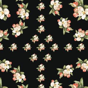 Hudson Floral Insignia in Black