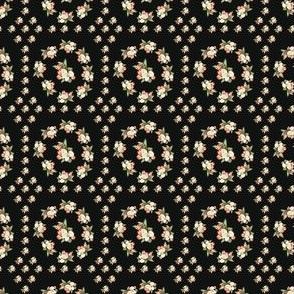 Hudson Floral Insignia Black | Small Print | Dollhouse