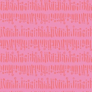 Mid century linear bursts in hot pink