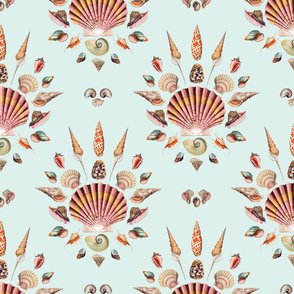 Vintage seashell damask