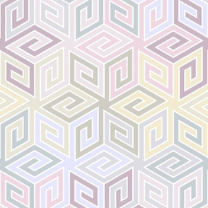 11518799 : greek cube : lilacmauve