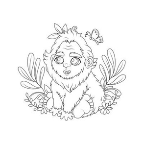Baby Bigfoot for Embroidery