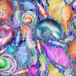 Neon Sea Shells