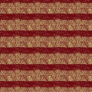 The-rain-in-africa-batik-Pale Gold chevron-on-Dark Red
