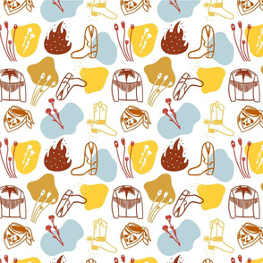 Cowboy Patterns_Large Tile
