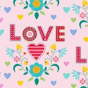 love heart 8 in loop embroidery