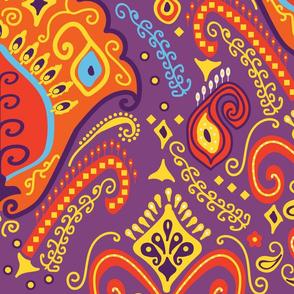 Purple Bohemian Hippie