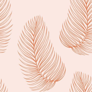 Soft Pink Tropical Leaves