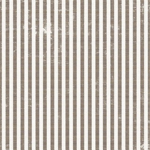 AEGEAN WIDE TICKING STRIPE BROWN
