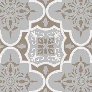 Geometrical Ornamental Azulejo Tiles. Vector seamless pattern