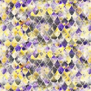 Dragon scales - purple, yellow, black, nonbinary - smaller scale