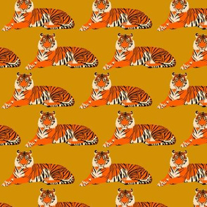 """Tigers on gold - 3"""""""