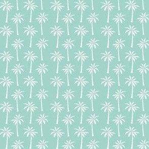 TINY palm tree // mint simple summer tropical palms print trendy print