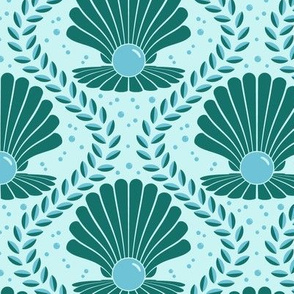 Art Deco Giant Clam Damask