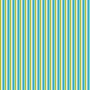 Mod Stripes Blue Aqua Green Small