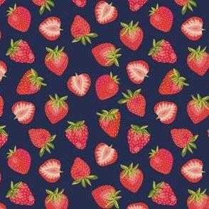 English Summer Strawberries: Dark Blue