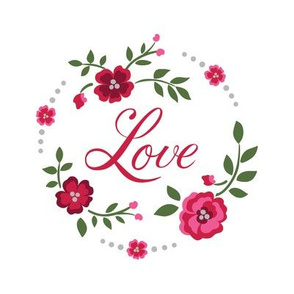 Love Embroidery with Flowers