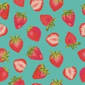 English Summer Strawberry: Dark Mint