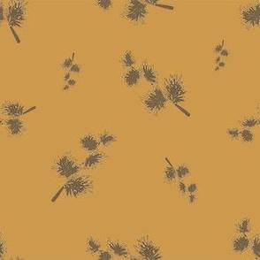 blurry branches golden orange - small scale