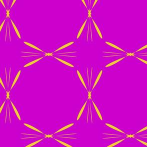 fuchsia and yellow geometrical