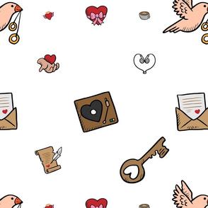 Love Key Letter