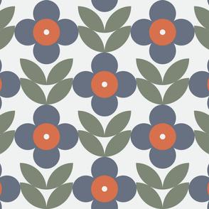 Blue Daisy Scandinavian flowers