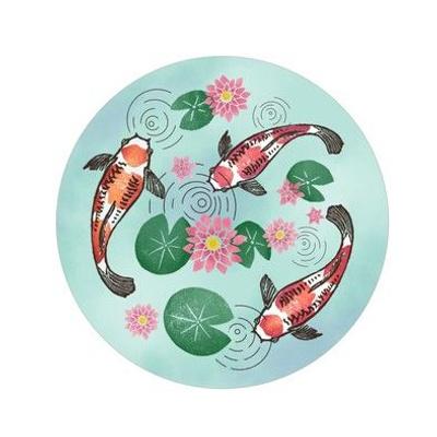 Embroidery Template Koi Pond