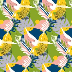 Chartreuse Livingston pattern