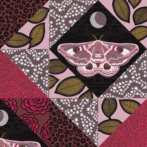"""Emperor Moth 1 (24"""") - pink"""