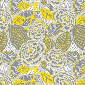 "Garden 1 (6"") - yellow/grey"