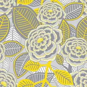 "Garden 1 (8"") - yellow/grey"