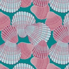 """Sea Shells (6"""") - blue/coral"""