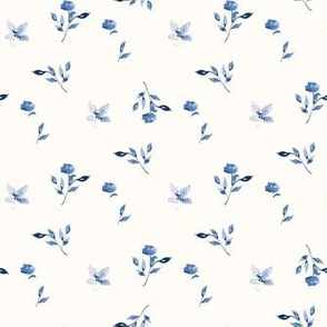 blue watercolor scatter blooms