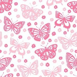 Red and pink butterflies