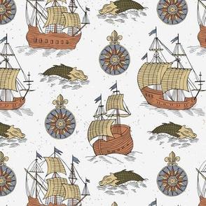 Retro sailing ship